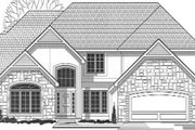 Traditional Style House Plan - 4 Beds 4 Baths 3668 Sq/Ft Plan #67-133 Exterior - Front Elevation