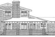 Bungalow Style House Plan - 3 Beds 2.5 Baths 2436 Sq/Ft Plan #72-463 Exterior - Rear Elevation