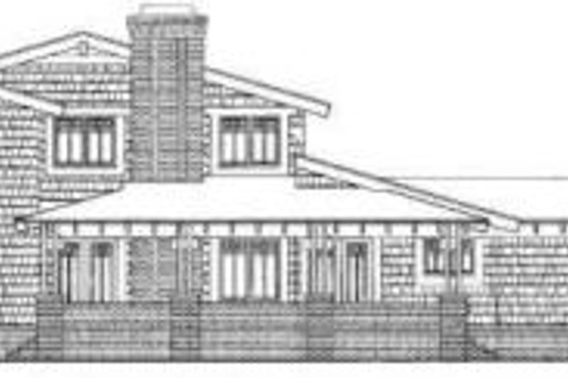 Bungalow Exterior - Rear Elevation Plan #72-463 - Houseplans.com