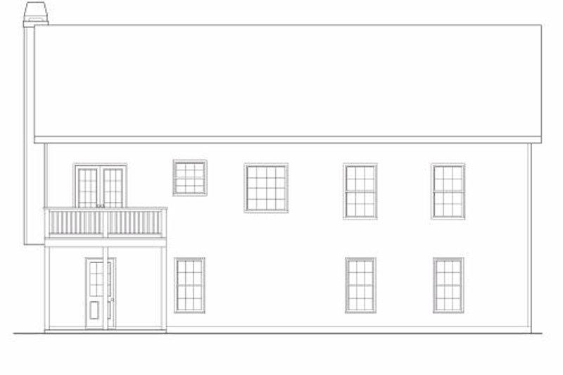 Traditional Exterior - Rear Elevation Plan #419-103 - Houseplans.com