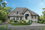 European Style House Plan - 3 Beds 1 Baths 1480 Sq/Ft Plan #25-4336 Exterior - Front Elevation