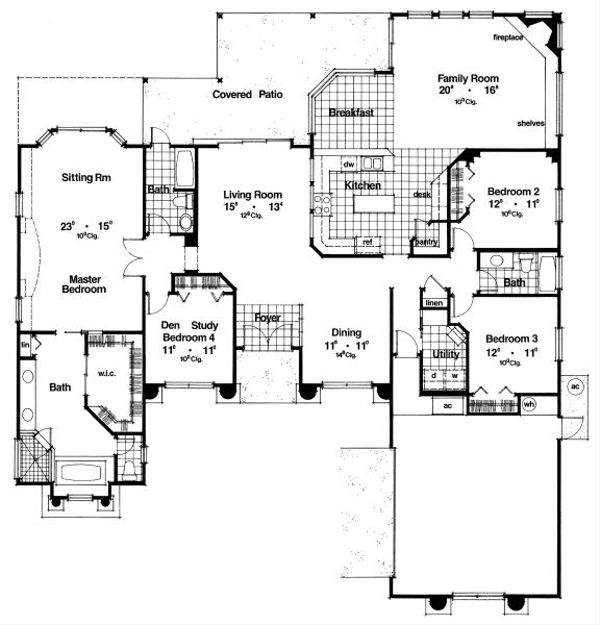 European Floor Plan - Main Floor Plan Plan #417-307