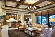 Mediterranean Style House Plan - 4 Beds 5 Baths 3777 Sq/Ft Plan #930-21 Interior - Family Room