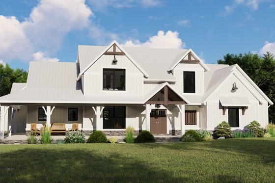 Farmhouse Exterior - Front Elevation Plan #1064-101