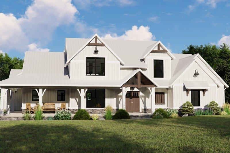 Architectural House Design - Farmhouse Exterior - Front Elevation Plan #1064-101