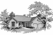 Traditional Exterior - Front Elevation Plan #70-291