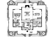 Country Style House Plan - 3 Beds 2 Baths 1640 Sq/Ft Plan #72-484 Floor Plan - Main Floor Plan