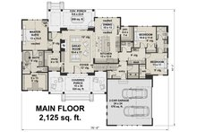 Farmhouse Floor Plan - Main Floor Plan Plan #51-1134