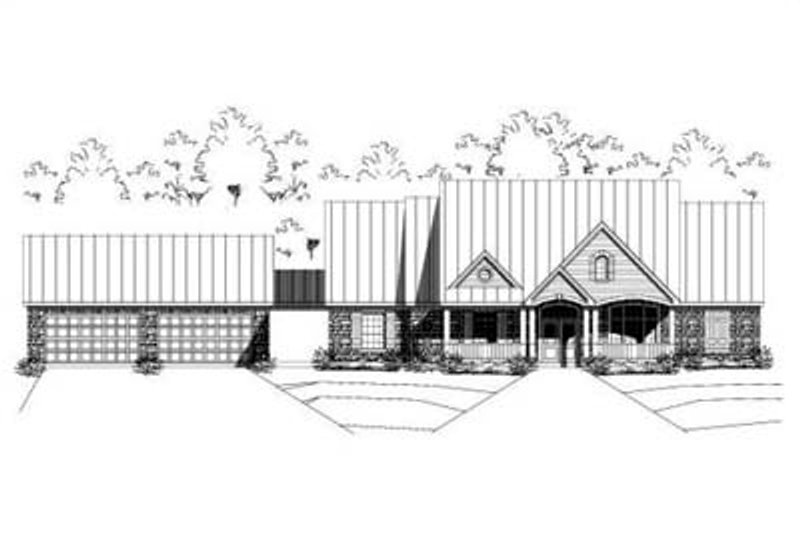Traditional Style House Plan - 3 Beds 3 Baths 2843 Sq/Ft Plan #411-147 Exterior - Front Elevation