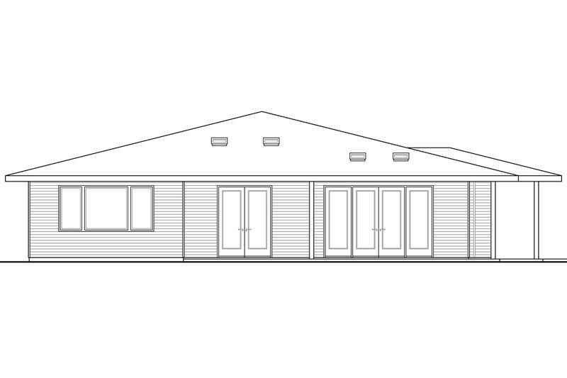 Prairie Exterior - Rear Elevation Plan #124-946 - Houseplans.com