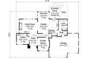 Traditional Style House Plan - 4 Beds 2.5 Baths 3001 Sq/Ft Plan #51-444 Floor Plan - Main Floor Plan