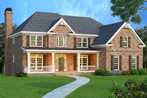 Dream House Plan - European Exterior - Front Elevation Plan #419-136