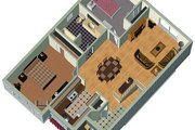 Cottage Style House Plan - 2 Beds 1 Baths 886 Sq/Ft Plan #25-127 Photo