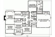 Southern Floor Plan - Main Floor Plan Plan #137-224