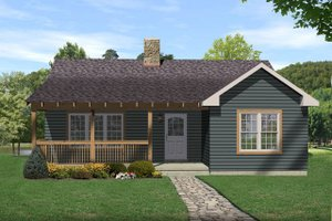 Architectural House Design - Country Exterior - Front Elevation Plan #22-125