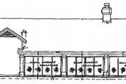 House Plan - 3 Beds 3 Baths 1958 Sq/Ft Plan #320-152 Exterior - Rear Elevation
