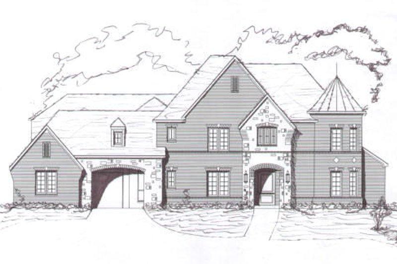 European Style House Plan - 5 Beds 4.5 Baths 4812 Sq/Ft Plan #141-191