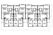Traditional Floor Plan - Upper Floor Plan Plan #20-2382