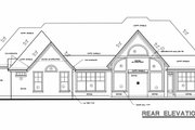Traditional Style House Plan - 4 Beds 3 Baths 2040 Sq/Ft Plan #20-684 Exterior - Rear Elevation