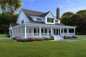 Farmhouse Exterior - Front Elevation Plan #923-108