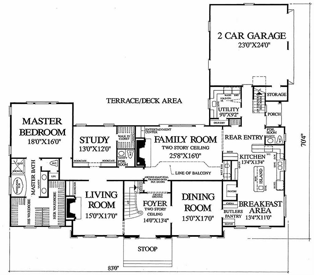 Colonial style house plan 4 beds 4 baths 4204 sq ft plan for Tk homes floor plans