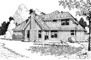 Country Style House Plan - 4 Beds 3 Baths 2016 Sq/Ft Plan #312-529 Exterior - Rear Elevation