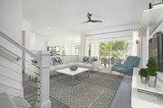 Beach Style House Plan - 3 Beds 2.5 Baths 1830 Sq/Ft Plan #938-108 Interior - Family Room