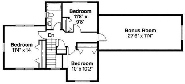 Craftsman Floor Plan - Upper Floor Plan Plan #124-718