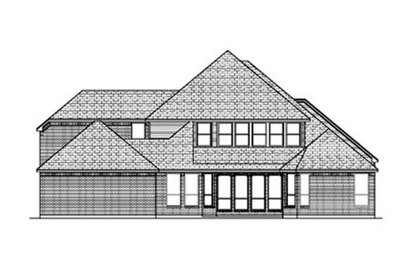 European Exterior - Rear Elevation Plan #84-430 - Houseplans.com