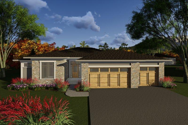 House Plan Design - Ranch Exterior - Front Elevation Plan #70-1266