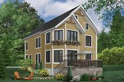 European Style House Plan - 4 Beds 2.5 Baths 2750 Sq/Ft Plan #23-2045 Exterior - Front Elevation