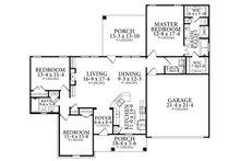 Cottage Floor Plan - Main Floor Plan Plan #406-9661