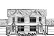 Traditional Style House Plan - 2 Beds 2.5 Baths 1864 Sq/Ft Plan #303-385 Exterior - Front Elevation
