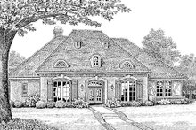 European Exterior - Front Elevation Plan #310-266