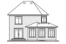 Dream House Plan - Traditional Exterior - Rear Elevation Plan #23-340