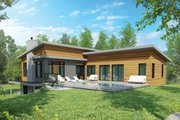 Contemporary Style House Plan - 4 Beds 3 Baths 2808 Sq/Ft Plan #23-2314 Exterior - Rear Elevation