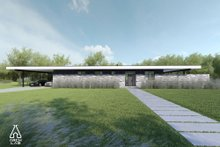 Modern Exterior - Front Elevation Plan #552-7