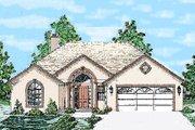 Mediterranean Style House Plan - 3 Beds 2 Baths 1501 Sq/Ft Plan #52-101