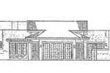Adobe / Southwestern Exterior - Rear Elevation Plan #72-185