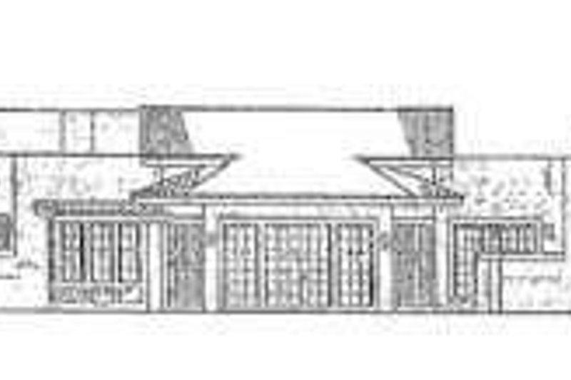 Adobe / Southwestern Exterior - Rear Elevation Plan #72-185 - Houseplans.com