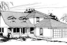 Architectural House Design - Farmhouse Exterior - Front Elevation Plan #124-223