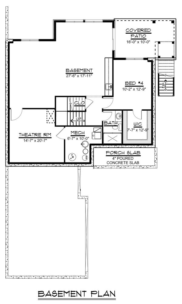 Beach Floor Plan - Lower Floor Plan Plan #1064-27