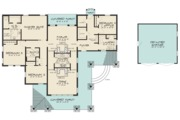 Modern Style House Plan - 4 Beds 2 Baths 2005 Sq/Ft Plan #923-83 Floor Plan - Main Floor