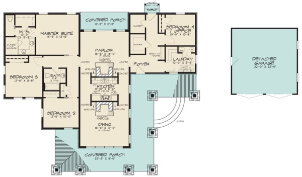 Modern Floor Plan - Main Floor Plan #923-83