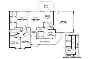 Traditional Style House Plan - 3 Beds 2 Baths 1634 Sq/Ft Plan #124-480 Floor Plan - Main Floor Plan