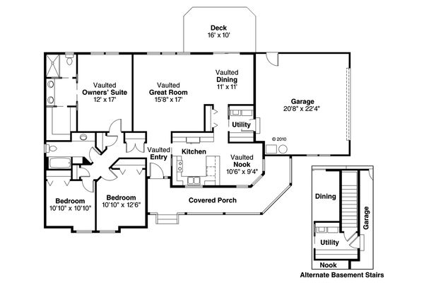 Traditional Floor Plan - Main Floor Plan Plan #124-480