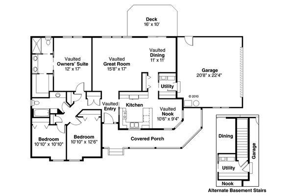 Traditional Floor Plan - Main Floor Plan #124-480
