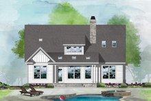 House Plan Design - Farmhouse Exterior - Rear Elevation Plan #929-1124