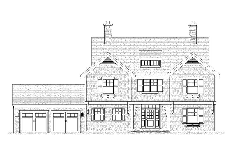 Traditional Style House Plan - 4 Beds 2.5 Baths 2483 Sq/Ft Plan #901-85