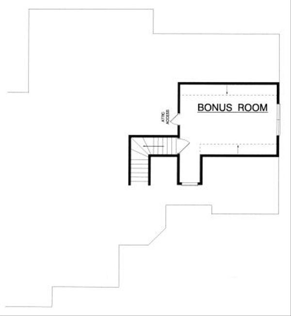 Traditional Floor Plan - Upper Floor Plan Plan #40-388